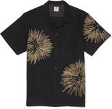 Sasquatchfabrix. - Fireworks Camp-collar Embroidered Cotton And Linen-blend Shirt