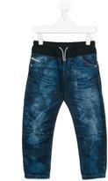 Diesel drawstring jeans - kids - Cotton - 10 yrs