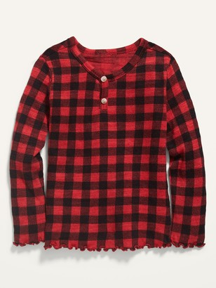 Old Navy Printed Long-Sleeve Henley for Toddler Girls