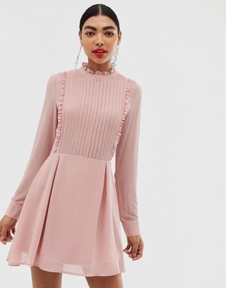 UNIQUE21 high neck frill mini dress