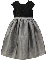 Jayne Copeland Black & Silver Glitter Dress - Toddler & Girls