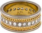 Ring Two-Tone Diamond Band