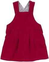 Jo-Jo JoJo Maman Bebe Twill Dungaree Dress (Toddler/Kid)-Rhubarb-3-4 Years