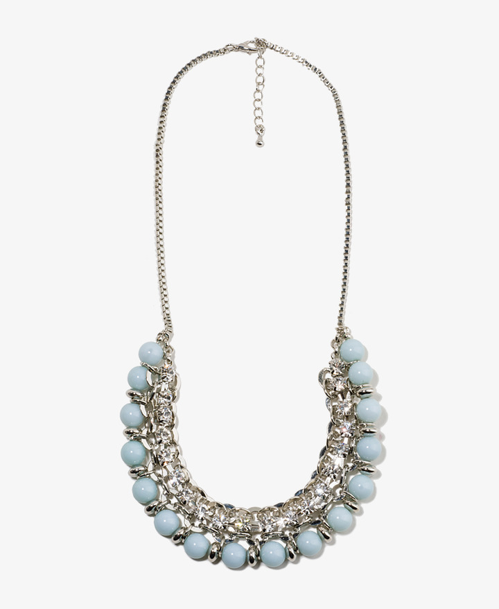 Forever 21 Sparkling Beaded Chain Necklace