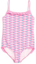 Vineyard Vines Girl's Whale Dot One-Piece Swimsuit