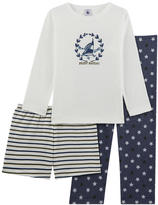 Petit Bateau 3-piece pyjamas