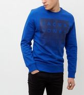 Jack And Jones Blue Abstract Print Sweater