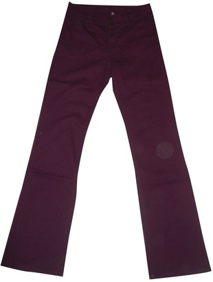 Gerard Darel Purple Cotton Trousers for Women