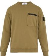 Stone Island Contrast-zip Cotton Sweatshirt
