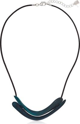 Robert Lee Morris Women's Sculptural Double Row Patina Frontal Necklace Pendant Enhancer