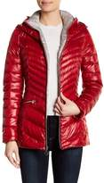 Laundry by Shelli Segal Funnel Neck Hooded Puffer Jacket