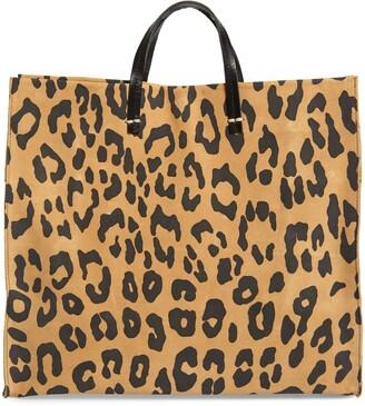 Clare Vivier Simple Leopard Print Suede Tote