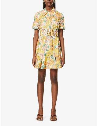 Zimmermann Poppy floral-print linen mini dress