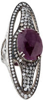 Hellmuth Ruby & Diamond Finger Ring