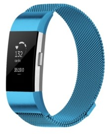 Posh Tech Unisex Fitbit Charge 2 Blue Stainless Steel Watch Replacement Band