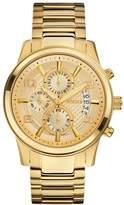 GUESS Gold-Tone Masculine Dress Chronograph Watch