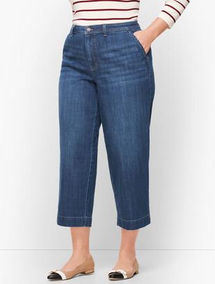Talbots Plus Size Wide Leg Crop Jeans - Comet Wash
