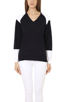 3.1 Phillip Lim Colorblock V Neck Pullover