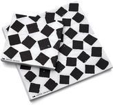 Crate & Barrel Set of 20 Fish Tile Paper Beverage Napkins