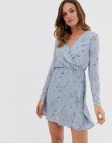 Yumi wrap front mini dress