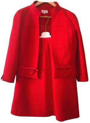 Courreges Red Wool Jacket for Women Vintage