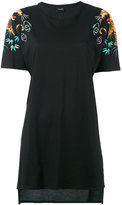 Marcelo Burlon County of Milan printed tiger sleeve T-shirt - women - Cotton - XS