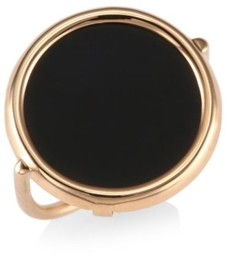 ginette_ny Black Onyx & 18K Rose Gold Ring