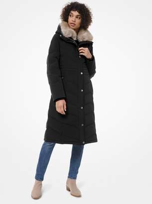 MICHAEL Michael Kors Faux-Fur Trim Quilted Puffer Coat
