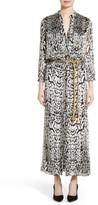 ADAM by Adam Lippes Women's Ocelot Print Veltvet Jacquard Dress