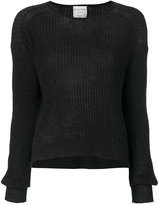 Forte Forte ribbed detail knitted top