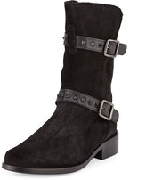 Sesto Meucci Shena Studded Waterproof Suede Bootie, Black