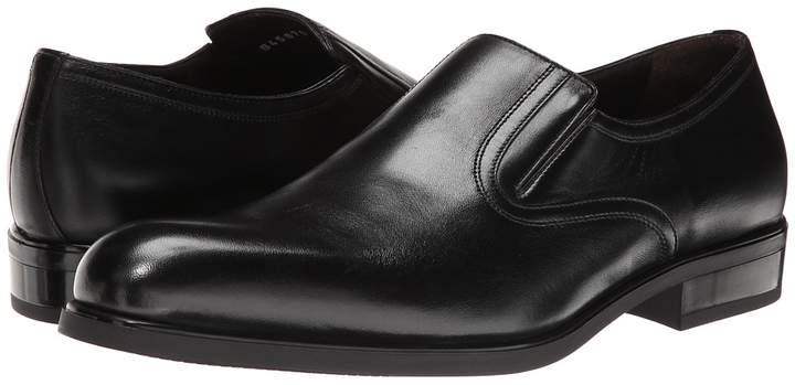 a. testoni Nappa Slip On w/ Rubber Sole Side Vents Men's Slip on Shoes