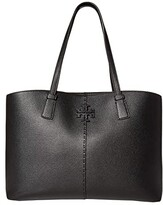 Tory Burch McGraw Tote (Black) Tote Handbags