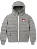 Moncler - Asperge Quilted Wool-blend Hooded Down Jacket