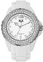 Haurex H2X Women's SS382DW1 Reef Stones Luminous Water Resistant White Soft Rubber Watch