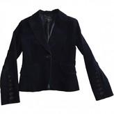 MANGO Blue Velvet Jacket for Women