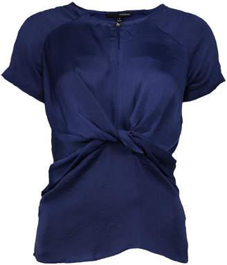 Harve Benard Women's Tunics Navy - Navy Twist-Front Top - Women