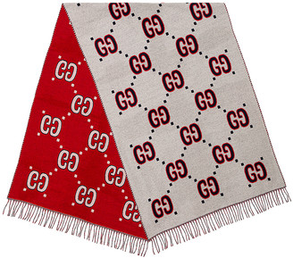 Gucci Scarf in Ivory & Red | FWRD