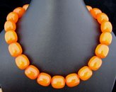 Private Label Tibetan Tribal Himalayan Honey Beeswax Beads Necklace
