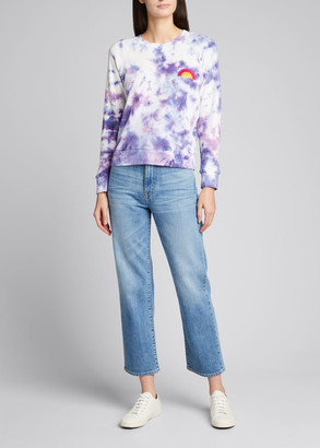 Mother The Square Tie Dyed Raglan-Sleeve Sweatshirt