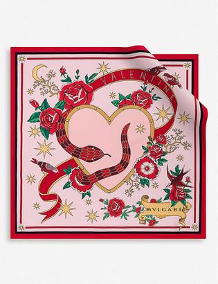 Bvlgari Heritage Valentines printed silk scarf