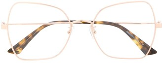 McQ Oversized Cat-Eye Frame Glasses