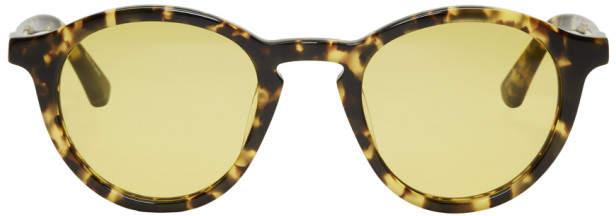 Dries Van Noten Tortoiseshell Linda Farrow Edition Round 144 C1 Sunglasses