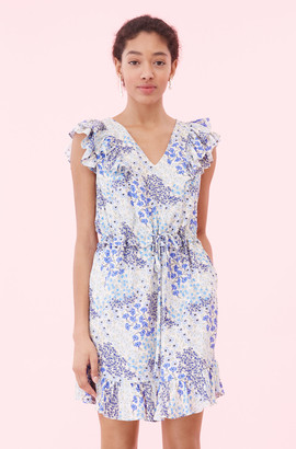 Rebecca Taylor Ava Floral V-Neck Dress