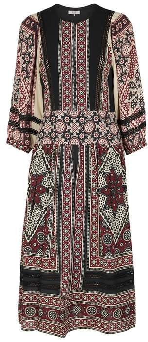 Sea Ezri Printed Chiffon Midi Dress