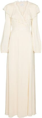 Giambattista Valli Ruffle Collar Silk Maxi Dress