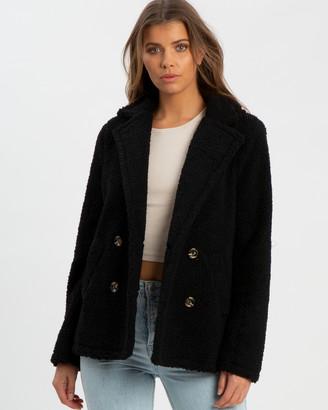 Calli Kahlia Double Breasted Teddy Coat