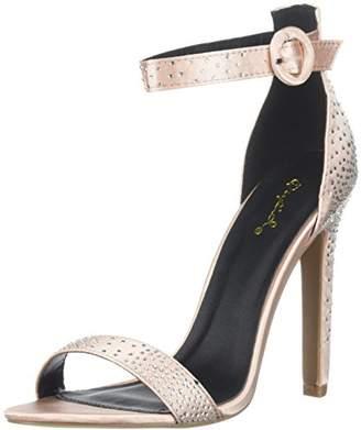 Qupid Women's INES-06 Heeled Sandal M US