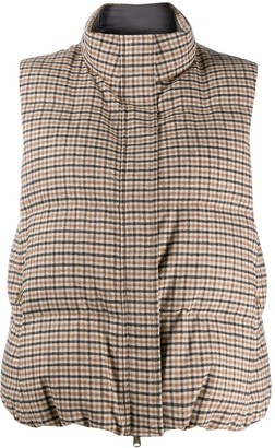 Brunello Cucinelli Checked Padded Gilet