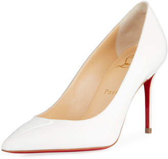Christian Louboutin Decollete 85mm Patent Leather Red Sole Pump